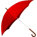 download Red Umbrella clipart image with 0 hue color