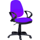 download Desk Chair Blue With Wheels clipart image with 45 hue color