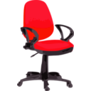 download Desk Chair Blue With Wheels clipart image with 135 hue color