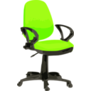 download Desk Chair Blue With Wheels clipart image with 225 hue color