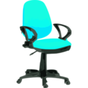 download Desk Chair Blue With Wheels clipart image with 315 hue color