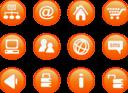 Icons Orange Web Candy