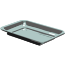 download Silver Tray clipart image with 315 hue color