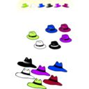 download Six Hats clipart image with 225 hue color