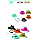 download Six Hats clipart image with 315 hue color