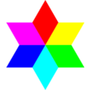 6 Color Diamond Hexagram