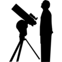 download Amateur Astronomer clipart image with 315 hue color