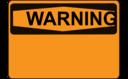 Warning Blank Orange