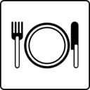 download Hotel Icon Has Restaurant clipart image with 225 hue color