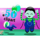 download Celebration clipart image with 135 hue color