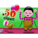 download Celebration clipart image with 315 hue color