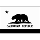 download Flag Of California Thick Border Monochrome Solid clipart image with 315 hue color