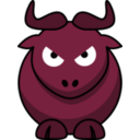 download Cartoon Gnu Wrath clipart image with 315 hue color
