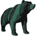 download Brown Bear clipart image with 135 hue color