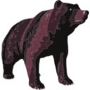 download Brown Bear clipart image with 315 hue color