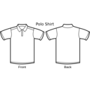 download Polo Shirt Template clipart image with 225 hue color