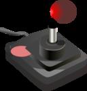 Joystick Black Red Petri 01