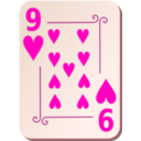 download Ornamental Deck 9 Of Hearts clipart image with 315 hue color