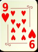 Ornamental Deck 9 Of Hearts