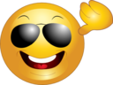 Yellow Sunglasses Smiley Emoticon