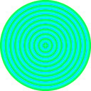 download 48 Circle Solar Target clipart image with 135 hue color