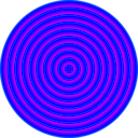 download 48 Circle Solar Target clipart image with 225 hue color