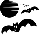 Halloween Bats Silhouette