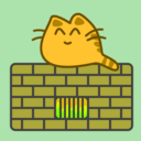 download Happy Cat On Warm Oven clipart image with 45 hue color