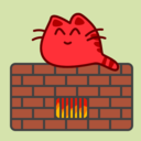 Happy Cat On Warm Oven