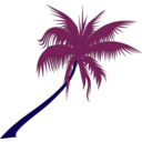 download Palm Tree clipart image with 225 hue color