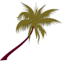 download Palm Tree clipart image with 315 hue color