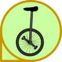 download Unicycle Icon clipart image with 45 hue color