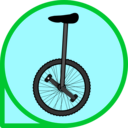 download Unicycle Icon clipart image with 135 hue color