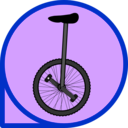 download Unicycle Icon clipart image with 225 hue color