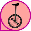 download Unicycle Icon clipart image with 315 hue color