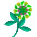 download Strange Flower clipart image with 45 hue color