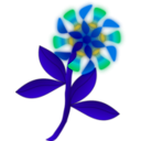 download Strange Flower clipart image with 135 hue color