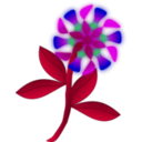 download Strange Flower clipart image with 225 hue color