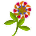 download Strange Flower clipart image with 315 hue color