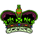 download Crown clipart image with 45 hue color