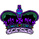 download Crown clipart image with 225 hue color