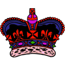 download Crown clipart image with 315 hue color