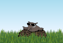 Lucky Mole In The Meadow