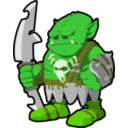 download Orc Warrior clipart image with 45 hue color