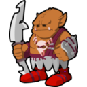 download Orc Warrior clipart image with 315 hue color