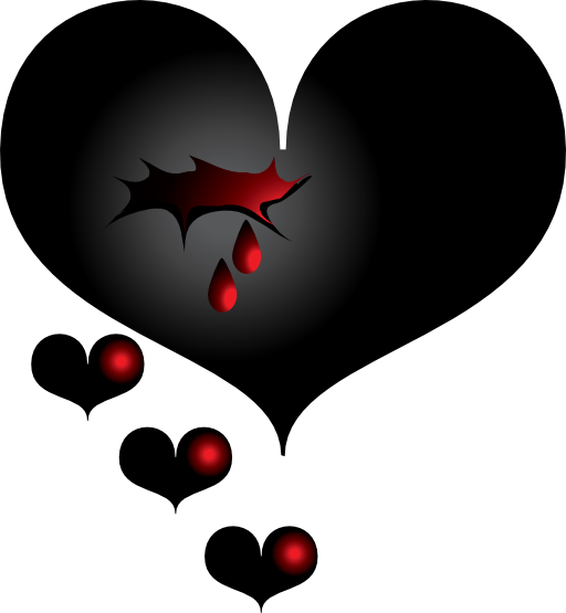 Clipart Black Heart 512x512 7b07 Png 512 555 Broken Heart Drawings Bleeding Heart Tattoo Heart Drawing