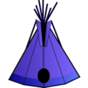 download Teepee clipart image with 225 hue color