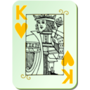 download Guyenne Deck King Of Hearts clipart image with 45 hue color