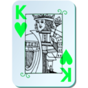 download Guyenne Deck King Of Hearts clipart image with 135 hue color