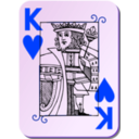 download Guyenne Deck King Of Hearts clipart image with 225 hue color